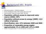 background info angola