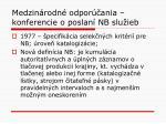 medzin rodn odpor ania konferencie o poslan nb slu ieb1