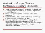 medzin rodn odpor ania konferencie o poslan nb slu ieb3