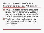 medzin rodn odpor ania konferencie o poslan nb slu ieb4