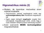 higrometrikus m r s 2