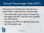 annual percentage yield apy
