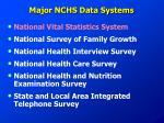 major nchs data systems