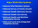 major nchs data systems1