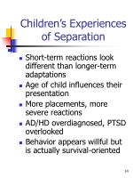children s experiences of separation