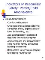 indicators of readiness safety parent child ambivalence1