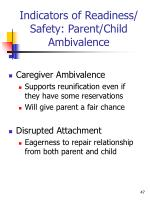 indicators of readiness safety parent child ambivalence2