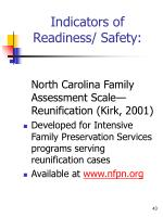 indicators of readiness safety