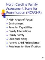 north carolina family assessment scale for reunification ncfas r