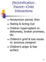 re unification parent child interactions