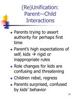 re unification parent child interactions1
