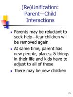 re unification parent child interactions2