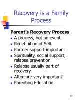 recovery is a family process