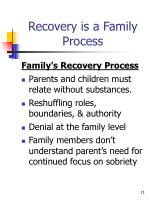 recovery is a family process1