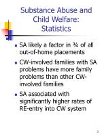 substance abuse and child welfare statistics1