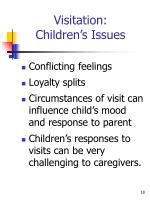 visitation children s issues