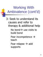 working with ambivalence cont d