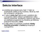 sekcia interface