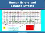 human errors and strange effects