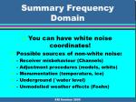 summary frequency domain