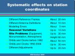 systematic effects on station coordinates