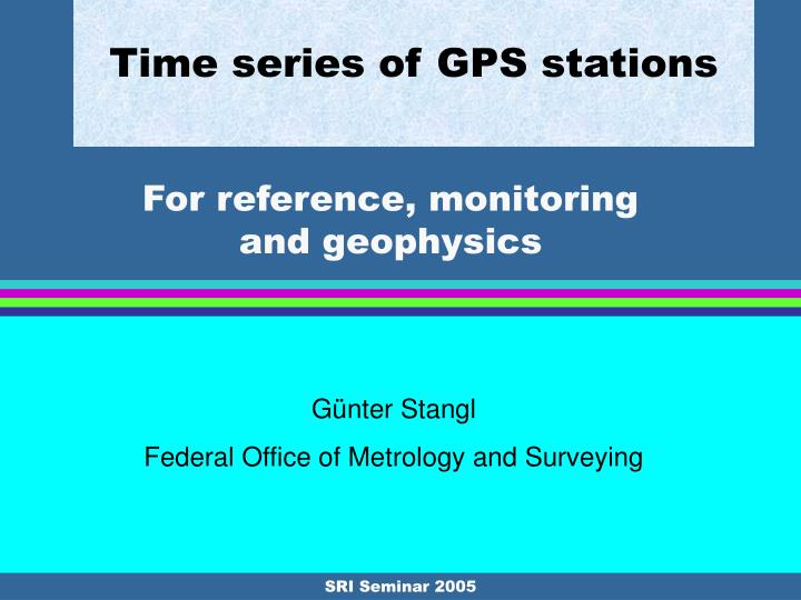 time series of gps stations n.