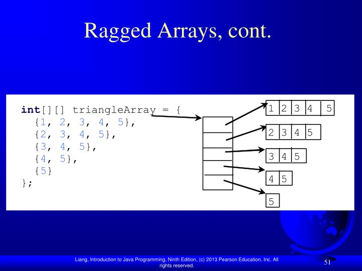 Ragged Arrays, cont.