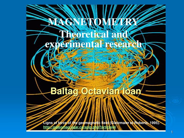 magnetometr y theoretical and experimental research n.