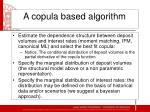 a copula based algorithm