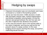 hedging by swaps