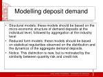modelling deposit demand