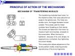 principle of action of the mechanisms6
