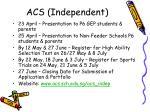 acs independent