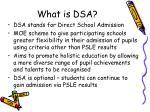 what is dsa