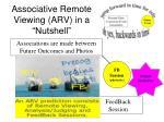 associative remote viewing arv in a nutshell