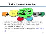 nat a feature or a problem