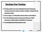 decision tree training