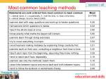 most common teaching methods