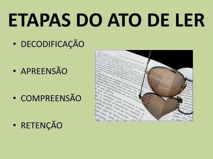 etapas do ato de ler n.