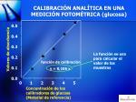 calibraci n anal tica en una medici n fotom trica glucosa