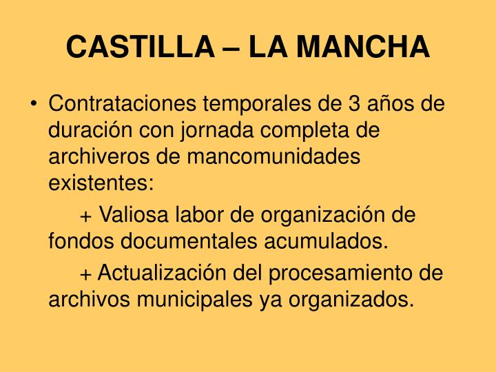 CASTILLA – LA MANCHA