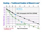 scaling traditional enabler of moore s law