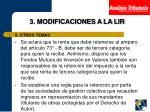 3 modificaciones a la lir15