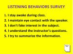 listening behaviors survey