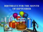 birthdays for the month of september