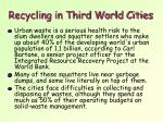 recycling in third world cities