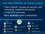 dod m s center of excellence