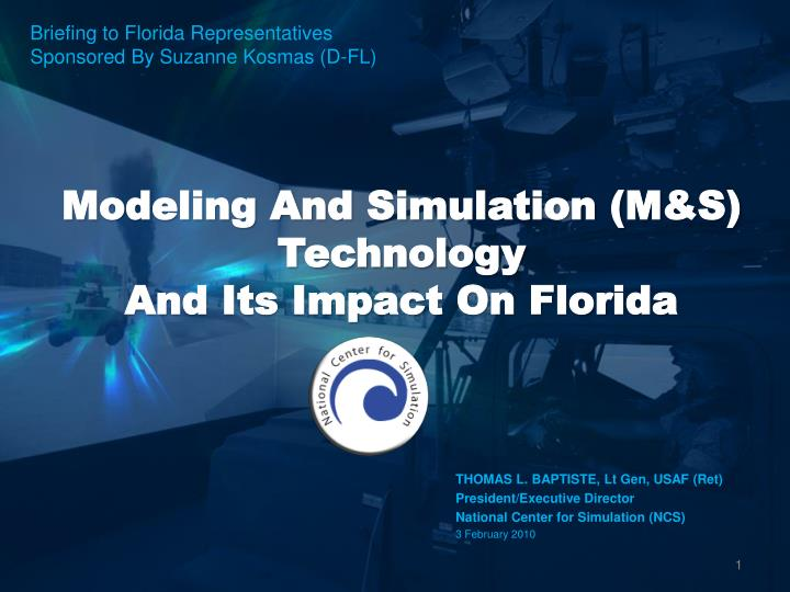 modeling and simulation m s technology and its impact on florida n.