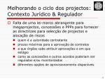 melhorando o ciclo dos projectos contexto jur dico regulador