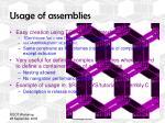 usage of assemblies